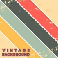 fundo de textura grunge vintage com listras em cores retrô vetor