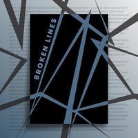 fundo geométrico abstrato com desenho de linhas quebradas vetor