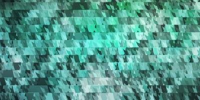 modelo de vetor verde claro com linhas, triângulos.