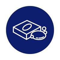 barra de sabão em ícone de estilo de bloco de caixa de embalagem