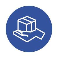 estilo de bloco de serviço de entrega de caixa para levantamento de mão