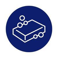 ícone de estilo de bloco de sabonete