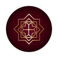 estilo gradiente de bloco de figura decorativa ramadan kareem