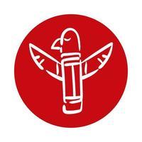 estátua do totem da águia canadense vetor