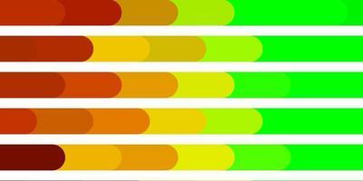layout de vetor verde e amarelo claro com linhas.