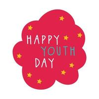 feliz dia da juventude em estilo plano de nuvem