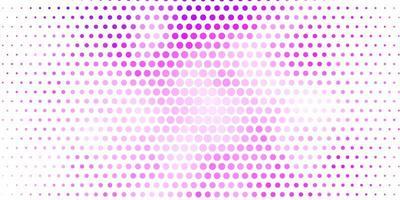 textura vector roxo claro com círculos.