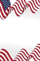 desenho de vetor de ícone de bandeira dos EUA