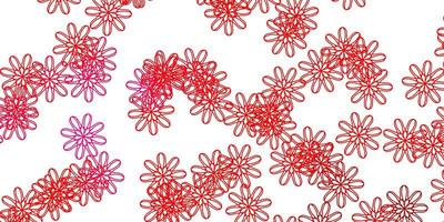pano de fundo natural do vetor rosa claro, vermelho com flores.
