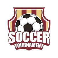 ícone do torneio de futebol com escudo vetor
