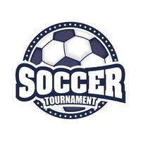 ícone do torneio de futebol com bola vetor