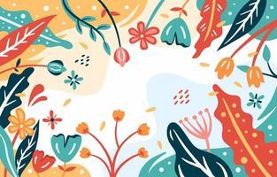 fundo floral abstrato moderno vetor