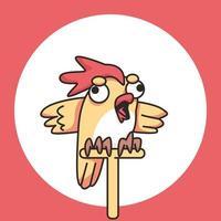 bloco de notas de frango fofo ilustração de desenho bonito vetor