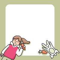 bloco de notas desenhos bonitos de menina e gato para fazer anotações diárias vetor
