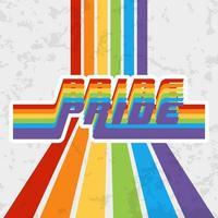 design de tipografia orgulho lgbt para cartaz vetor