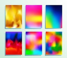 conjunto de textura gradiente para conjunto de cartaz vetor