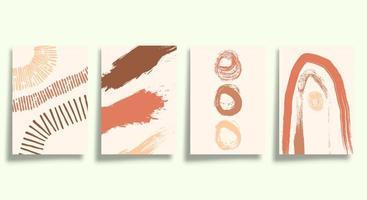 conjunto de tipografia minimalista abstrata vetor