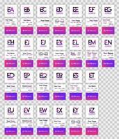 carta e logo pack com implementação para cartão de visita. a ilustração vetorial pode ser para mídia online impressa, identificação, finanças, indústria, documento, modelo, folheto, web, página de destino, aplicativo móvel vetor