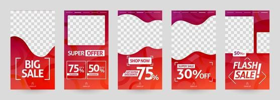 ilustrações abstratas do modelo de história de mídia social. poste desconto e venda para varejo de moda e moderno. publicidade, marketing, promoção online. brochura de impressão digital, folheto, banner, cartão vetor
