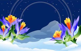 fundo floral do inverno da natureza vetor