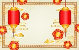 fundo da festa do ano novo chinês vetor