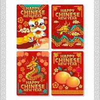 festivo ano novo chinês deluxe vetor