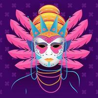 máscara e miçangas festival de mardigras