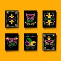 cartão colorido do carnaval