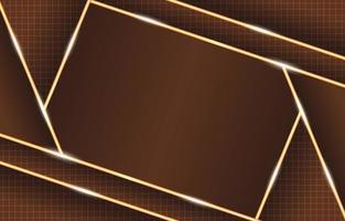 composição de luzes de néon geométrica marrom ouro brilhante vetor