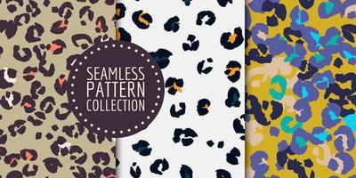 padrão uniforme com manchas de leopardo vetor