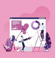 conceito de processo de web design vetor