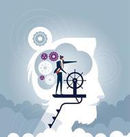 liderança empresarial - vetor de conceito de negócio