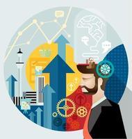 empresário cria vetor de ideias