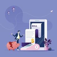 conceito financeiro falido empresário-dinheiro vetor