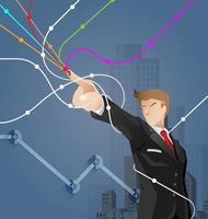 vetor de conceito financeiro e de negócios