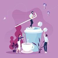 empresários no vetor do conceito de pausa para o café