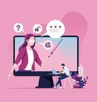 educação online e conceito de e-learning vetor