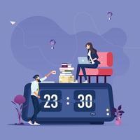 conceito de vetor de trabalho duro de equipe de negócios