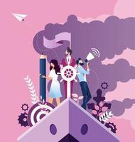 conceito de melhoria e desenvolvimento de negócios vetor