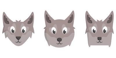 conjunto de lobos dos desenhos animados.