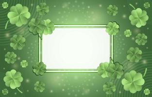 conceito elegante de trevo verde gradiente com moldura