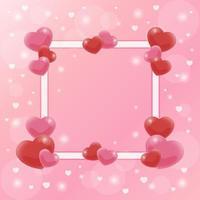elegante fundo de dia dos namorados com coração rosa e vermelho suave