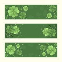 conjunto de banner gradiente de trevo verde