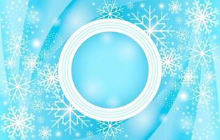 elegante fundo gradiente azul claro com flocos de neve