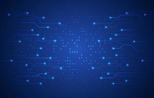 fundo de tecnologia azul escuro vetor