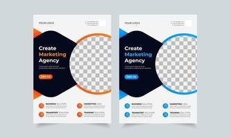 modelo de design de folheto de negócios corporativos, capa de cartaz de folheto criativo, folheto pronto para impressão em cores A4 vetor