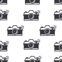câmera de desenho animado clicando no fundo padrão sem emenda vetor