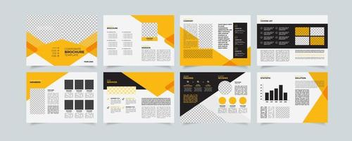 modelo criativo de proposta de empresa, design de brochura multiuso, design geométrico de proposta de negócios, formato a4 vertical vetor