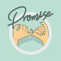 mindinho promessa gesto com a mão vetor