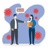 empresários demitidos do trabalho por causa da pandemia de 19 vetor